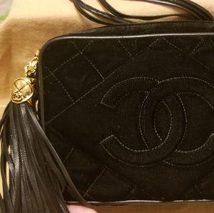 Chanel Quilted Velvet Camera Bag